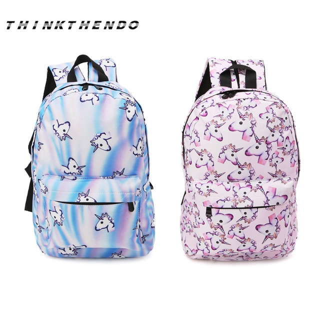3b3de82fdbc Top Quality Bookbag School Bags 3D Unicorn Printing Teenage Girl Backpack  Student School Bag Travel Rucksack Women Bag