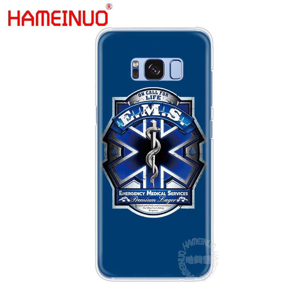 Hameinuo Pemadam Kebakaran Pemadam Kebakaran Fire Ems Penyelamatan Sel Ponsel Case PENUTUP UNTUK Samsung Galaxy S9 S7 Edge Plus S8 S6 S5 s4 S3 Mini