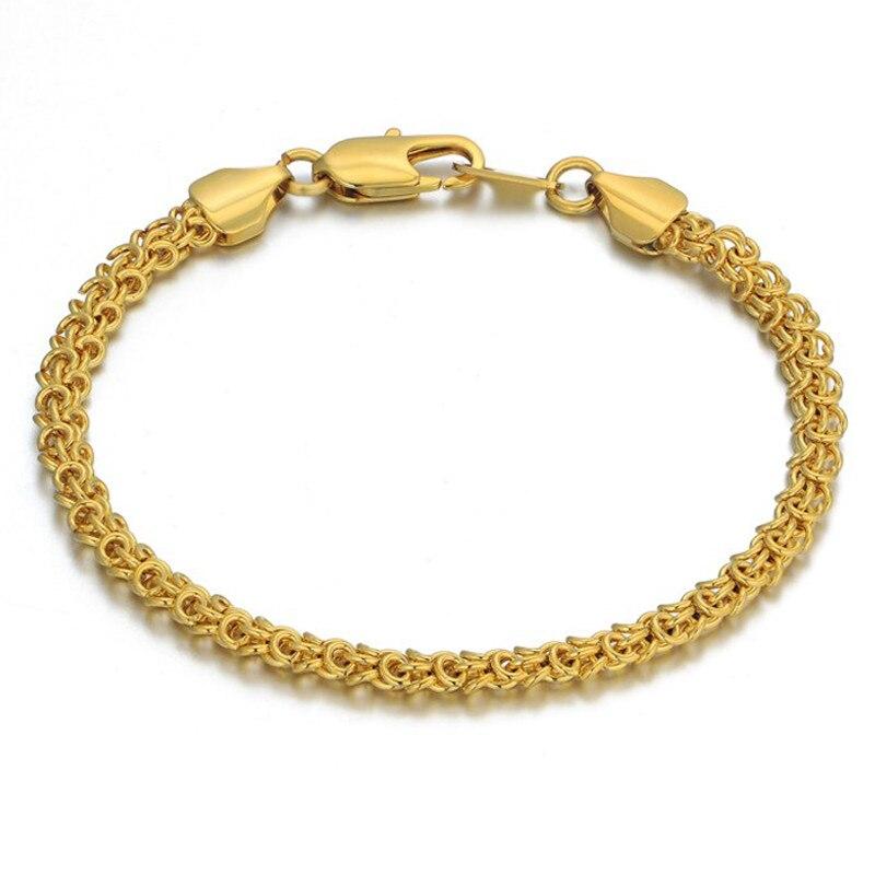 Vintage Popcorn Chain Link Bracelet For Men/Women Gold Color Womens Mens Hand Chain Bracelets Wholesale Braslet 2017