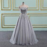 Бальное платье элегантное платье для выпускного вечера es длинные с бисером Милая Тюль серебристое платье Для Выпускной Формальное вечерне