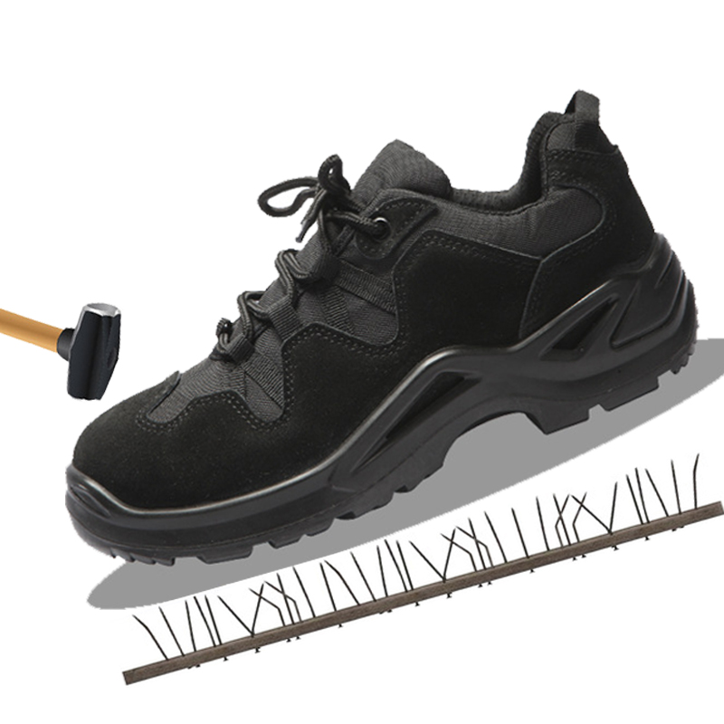 Leather safety shoes men's anti-static shoes work shoes anti-smashing anti-piercing safety boots thumbnail