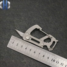 Titanium Alloy Multi-function Outdoor Safety Carabiner Hanging Keychain Personality Creative Lock Bag EDC Buckle