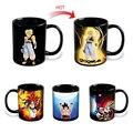 Drop shipping Changing Color Mugs Dragon Ball Z Mug SON Goku Heat Reactive Ceramic Super Saiyan Coffee Cups Taza Goku Cup