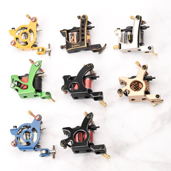 New Professional Tattoo Machine Coil Iron Frame Liner Tattoo Supplies Shader Gun 10 Wrap Tatto Machines for Permanent Makeup professional handmade tattoo machine 10 wrap coils iron cast frame custom tattoo gun for liner shader free shipping tm 837