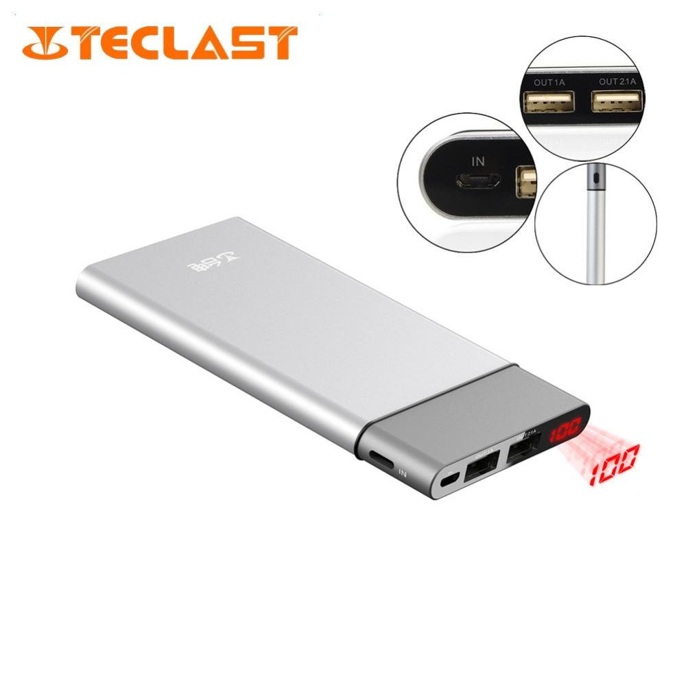imágenes para Original TECLAST T100uc-s 10000 mAh 2USB Banco Móvil con Pantalla Digital Banco de la Energía de Carga Rápida para Oneplus 5 Elephone s8