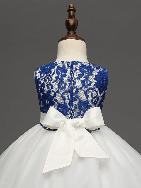 034cdcae4 Online Shop ZiKa Korean Childrens Lace Dresses Retro Elegant Pageant ...