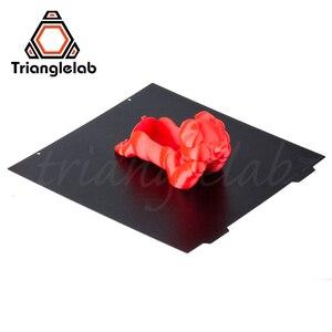 Trianglelab 310X310 CR10 двухсторонний текстурированный PEI пружинный стальной лист с порошковым покрытием PEI сборка пластины для CR-10