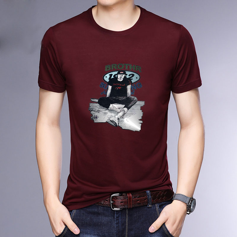 HAYBLST Brand Men T Shirts Summer 2019 Fashion Casual Cotton O Neck Tops amp Tees Homme Breathable Plus Size M 5XL Male T Shirts in T Shirts from Men 39 s Clothing