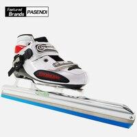 Rouleau Patins À Roues Alignées Patins Glace Lame pour Slalom Vitesse chaussures de Patinage sur glace Femmes/Hommes Professionnel patins à roues alignées En Fiber De Carbone bottes