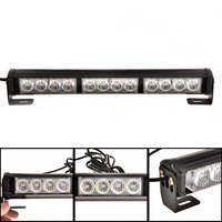 New High Quality 14 inch 12 LEDs White Amber Light Emergency Warning Strobe Flash Bar Security Lamp DXY88