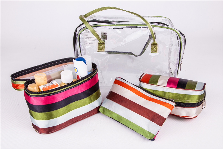 Portable Toiletry Cosmetic Bag Fashion Polyester PVC Waterproof Makeup bags Wash Organizer Storage Pouch Travel Kit Handbag led телевизор mystery mtv 2423lw black