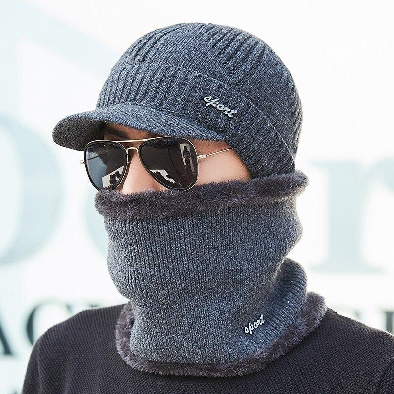Winter Hats   Skullies     Beanies   Hat Winter   Beanies   For Men Women Wool Scarf Caps Balaclava Mask Gorras Bonnet Knitted Hat