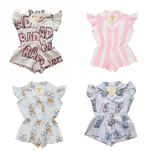 2017 SUMMER KIDS BRAND CLOTHING HUGO OVERALLS BABY GIRL CLOTHES GIRLS CLOTHING VESTIDOS robes filles european children clothing