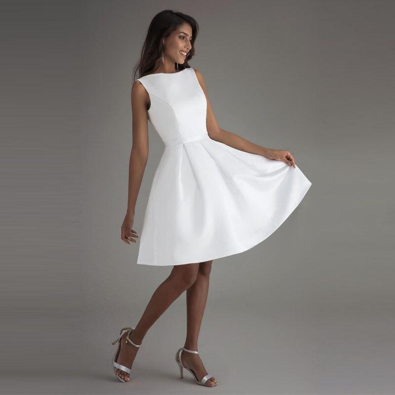 LORIE Billiga Korta Bröllopsklänningar 2018 Öppna Tillbaka Robe De - Bröllopsklänningar - Foto 6