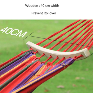 Image 5 - T Canvas Dorm Hanging Chair Navy Blue and White Camping Hammock Outdoor Two person Rock Swing Chair Dropshipping Bed
