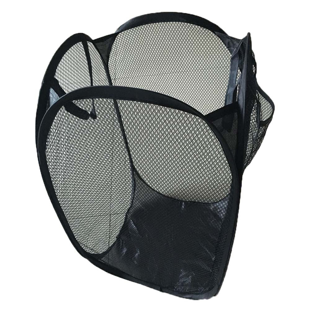 Dirty Laundry Baskets Us 2 11 5 Off Foldable Pop Up Washing Laundry Basket Bag Hamper Mesh Storage Laundry Products Dirty Clothes Basket In Laundry Bags Baskets From