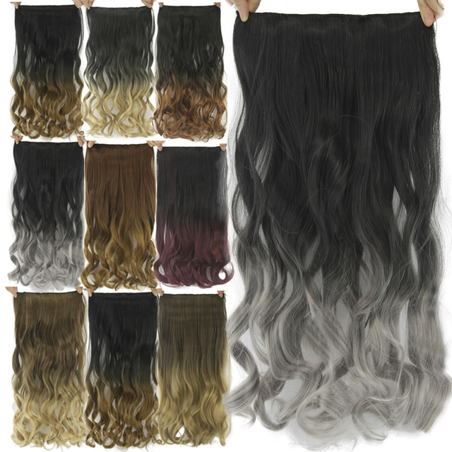 Soowee 60cm Long Synthetic Hair Clip In Hair Extension Heat Resistant Hairpiece Natural Wavy Hair Piece 2