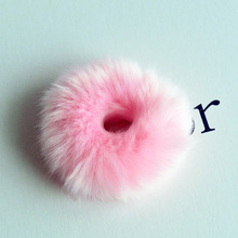 1PC Sweet girls Cute Little Girls Pompom Hair Ties Double Pom Elastic Band Ropes Accessories  PJ-1050