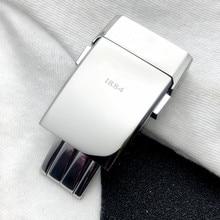 Высокое Качество Толстая Нержавеющая сталь Пряжка для Breitling ремешок для часов 20*20 мм полировка двойной клик застежка Мужские часы ремешок логотип на