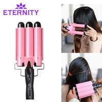 20 32cm Automatic Perm Splint Ceramic Hair Curler 3 Barrels Big Wave Hair Curling Iron Hair