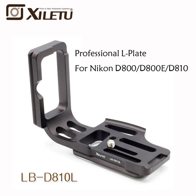Xiletu LB-D810L Professional Quick Release Plate L Head For Nikon D800/D800E D810  Arca Standard fittest custom l bracket l plate vertical plate for nikon d500 d500 arca swiss rrs lever release clamp compatible