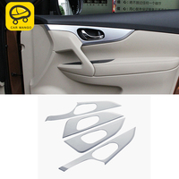 CarManGo For Nissan X Trail T32Auto Car inner door handle frame cover trim Sticker Cover Accessories