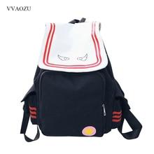 Anime Card Captor Cardcaptor Sakura Backpack KINOMOTO SAKURA Magic Card Girl Canvas Large Capacity Schoolbag Cosplay Backpacks
