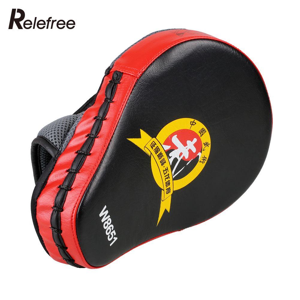 Black gloves at target - Boxing Target Focus Punch Pad Glove Mitt Muay Thai Karate Tkd Kick Mma Training Boxing Pad