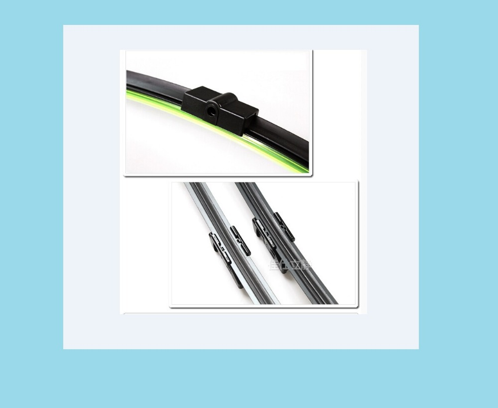 Car wiper blade Ford Focus 2006-2011models,car accessories, rubber , Bracketless windscreen blades,2pcs,17 inch+26 inch - Connection of the sea store