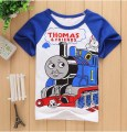 2016 summer Girls boys t-shirts thomas friends Shopkins Children Baby Blouse next kids clothes cartoon cotton Tees things cool