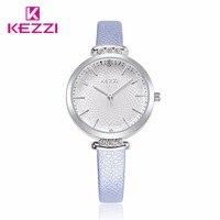 KEZZI Brand Free Shipping Leather Lady Causal New Watch Analog Women Dress Watches Fashion Quartz Women