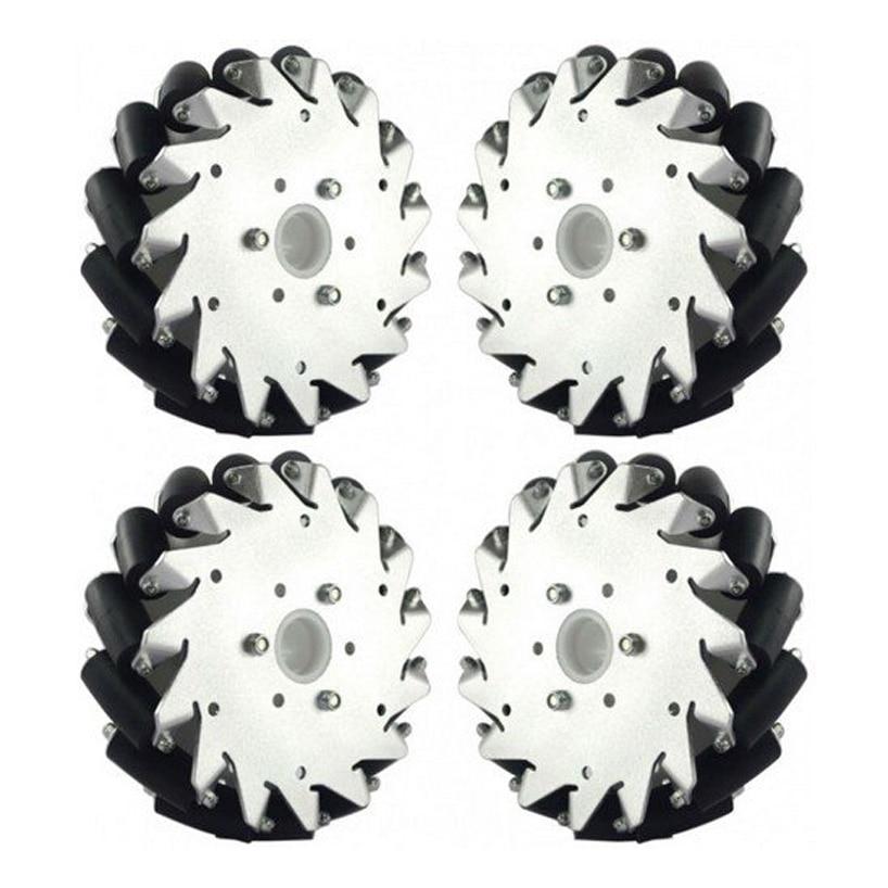 6 inch Mecanum Wheels UH165 152mm Mecanum Wheel Aluminum Online Wholesale( 2 Left , 2 Right)