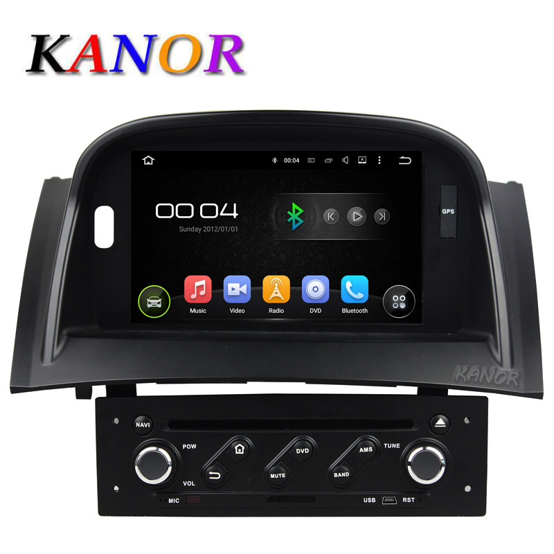 kanor android 5 1 car dvd video player for renault megane ii 2 2004 2009 with gps navigation. Black Bedroom Furniture Sets. Home Design Ideas