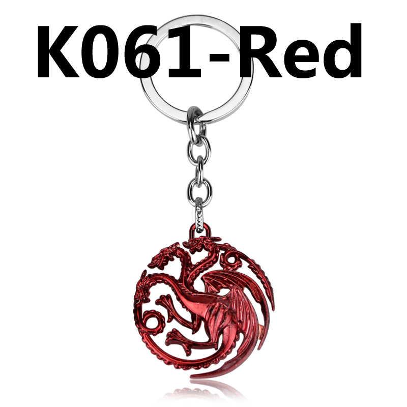 Game of Thrones Casa Stark Lobo Keychain chaveiro Abridor de Cerveja A Song Of Ice And Fire Targaryen Dragão Chaveiro presente da lembrança