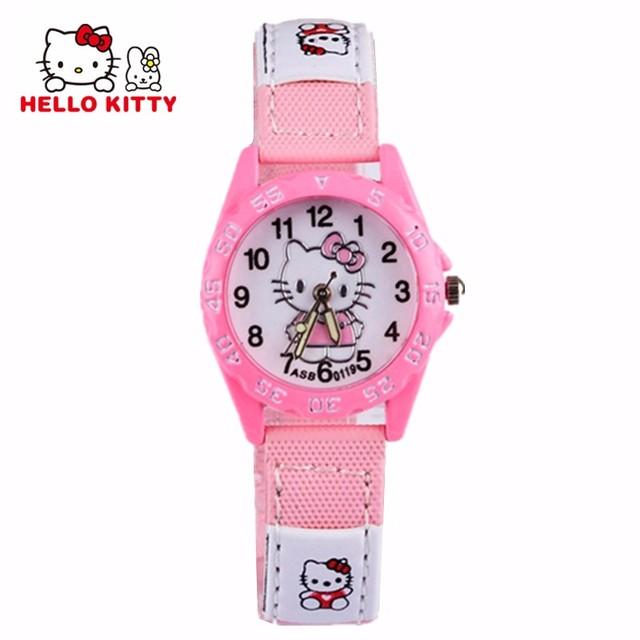 Hello Kitty Cute Children Watches Cartoon Straps Baby Clocks Girls Boy Pink Reloj Enfant Ceasuir Pupil Dress Saats Superman Hour