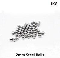 Free Shipping 1kg(=30000pcs) Dia 2mm high carbon steel ball 2 mm bearing balls slingshot Ammo Precision G100