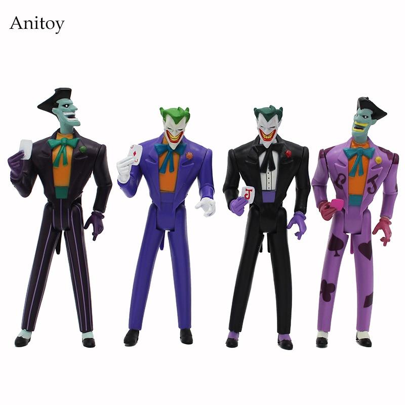 4 pcs/set Batman The Joker PVC Action Figures Collectible Model Toys 12cm KT4220