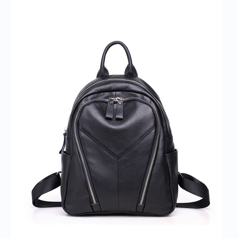 2017 New Fashion Women Backpack  School Bag For Teenage Girls Ladies Genuine Leather Backpack Softback Solid Bags Famous Brand