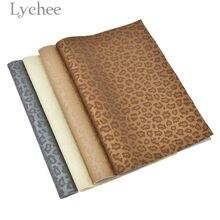 Lychee Life 29x21cm A4 drukowane Leopard Faux skóra PVC tkaniny wysokiej jakości syntetyczna skóra DIY materiał na torebki odzieży