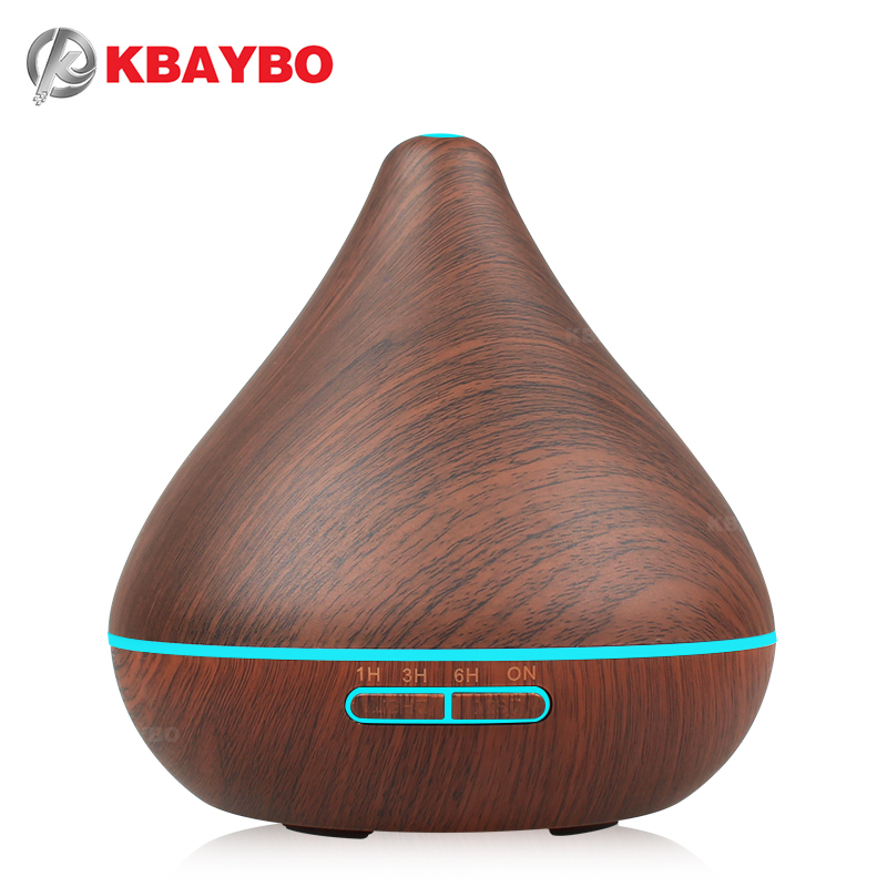 Air Humidifier Essential Oil Diffuser Aroma Lamp Aromatherapy Electric Aroma Diffuser Mist Maker for Home-Wood 300ml new 300ml woodgrain essential oil aroma diffuser aromatherapy humidifier mist maker purifier 3 models