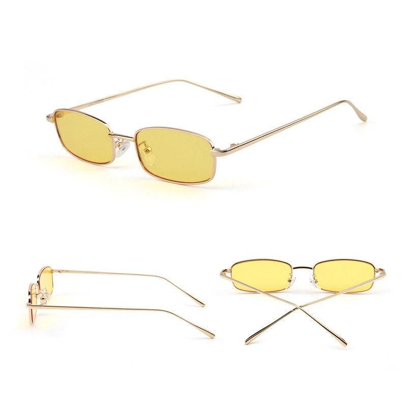 los Retro Getönte Jm Mixed Linse Rechteckige Sonnenbrille Kleine Frauen Dünne Schlanke Colors 10 Designer Großhandel Marke Klare Teile qqtgp
