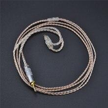 НОВЫЙ 2.5 мм KZ ZS3 ZS5 кабель 2Pin посеребренные и медный кабель наушники Обновление кабель для KZ наушники KZ ZS3 ZS5