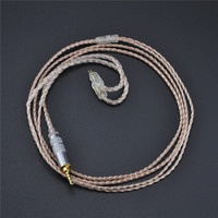 New 2 5mm KZ ZS3 ZS5 Cable 2pin Silver Plated And Copper Cable Earphone Upgrade Cable