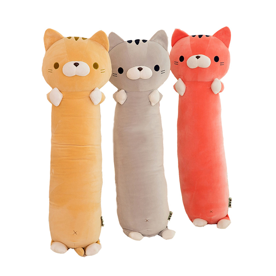 Big Cat Toys Plush Simulation Stuffed Animals Baby Gift Valentines Day Kids Plush Toys Softspeelgoed Pillow Toy For Girl SIA001 70cm chi s sweet home plush toys cat aoft toys stuffed plush toys factory supply freeshipping