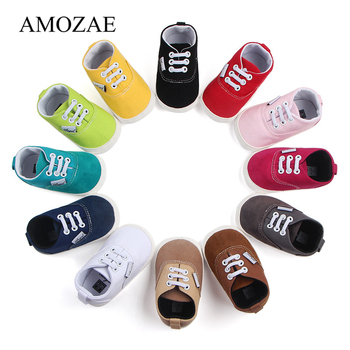 New Canvas Baby First Walkers Sport Shoes For Girls Boys Newborn Prewalker Infant Toddler Rubber Botton Anti-slip Sneaker