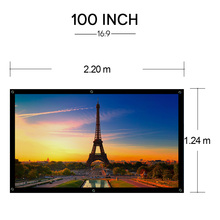 CAIWEI Hot Projector Screen 100 Inch outdoor movie Projection screen 16:9 for home cinema office business
