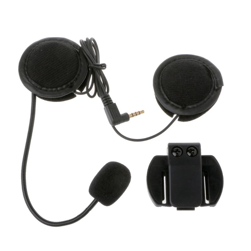 Motorcycle Earphone Speaker Intercom Accessories 3.5mm Jack Plug &Clip For V4 V6