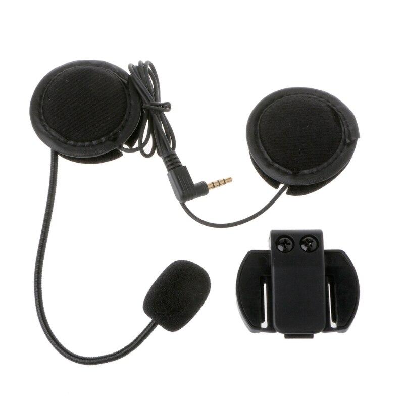 Motorrad Kopfhörer Lautsprecher Intercom Zubehör 3,5mm Jack Plug & Clip Für V4 V6