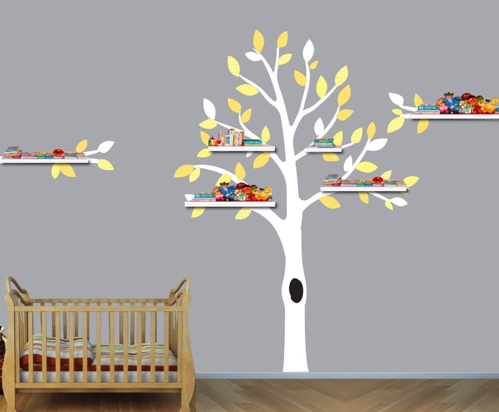 popular shelf tree decal buy cheap shelf tree decal lots from nursery tree shelf tree decals boys room wall stickers tree wall art