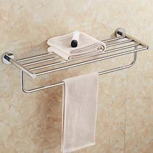 Stainless Steel Towel Rail Bar Multifunctional towel rack shelf Hanging Holder Bathroom Hardware Accessories